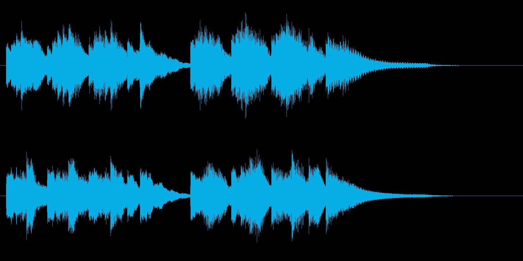 ゆったりとした癒しのピアノソロジングルの再生済みの波形