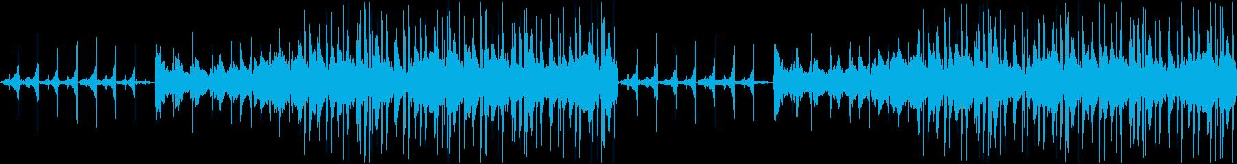 逆再生したゲームに合うビートの再生済みの波形