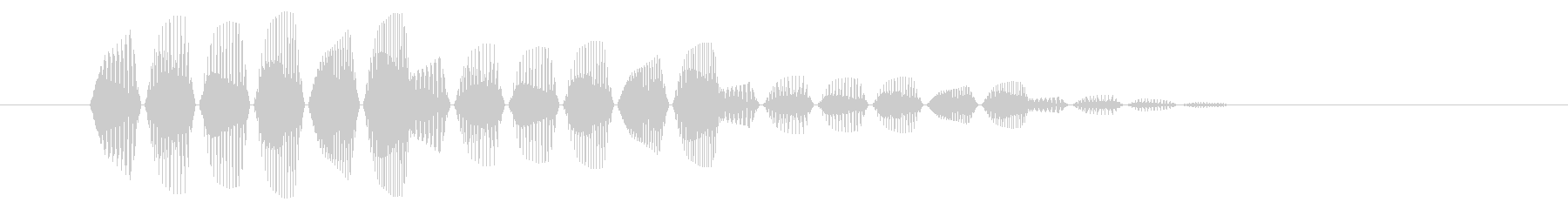 SNES 格闘05-11(選択)の未再生の波形