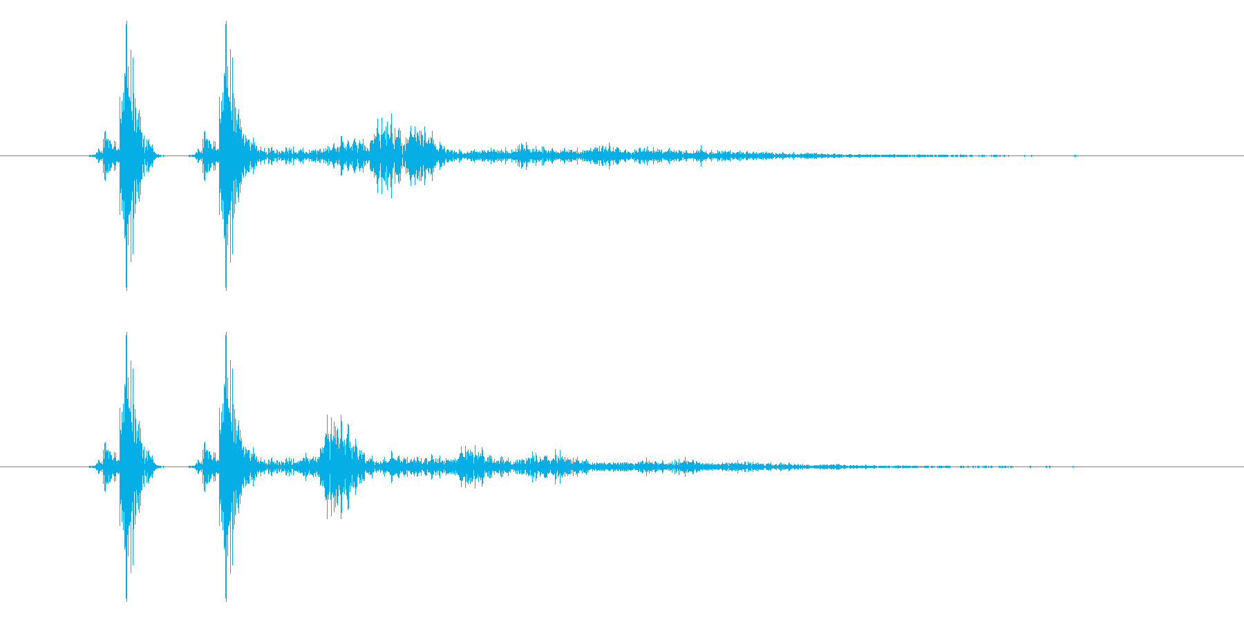 チャッ!決定/ボタン/クリック効果音!2の再生済みの波形