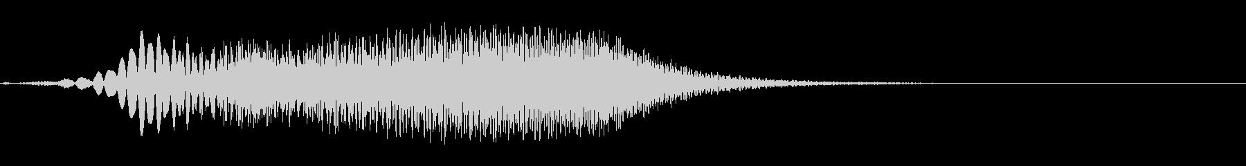 ヒューンという感じのワープの音 フワーンの未再生の波形