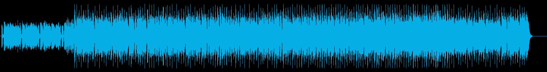 優しく明るい日常の雰囲気のテクノポップの再生済みの波形