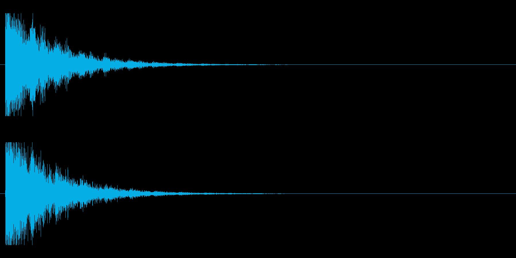 レーザー音-143-2の再生済みの波形