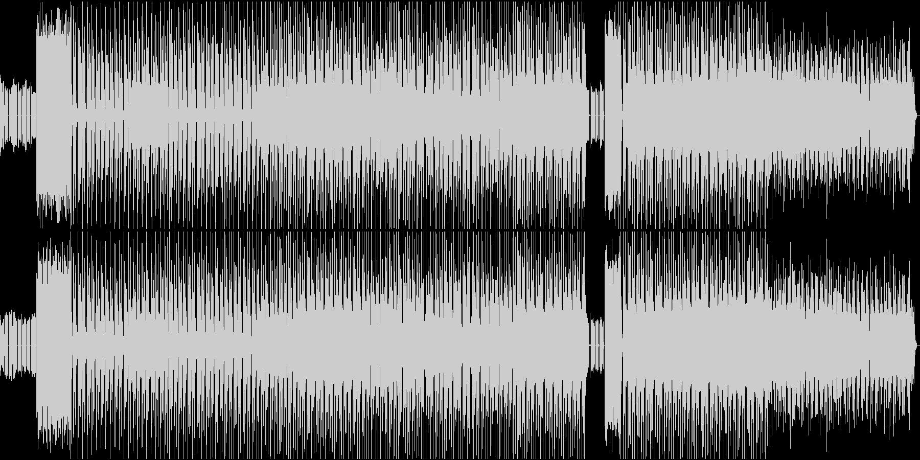 コミカルなサウンドが楽しいエレクトロニカの未再生の波形