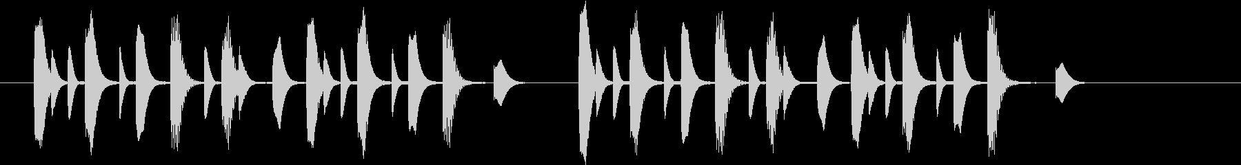 ほのぼのとした場面切替に使えるジングルの未再生の波形