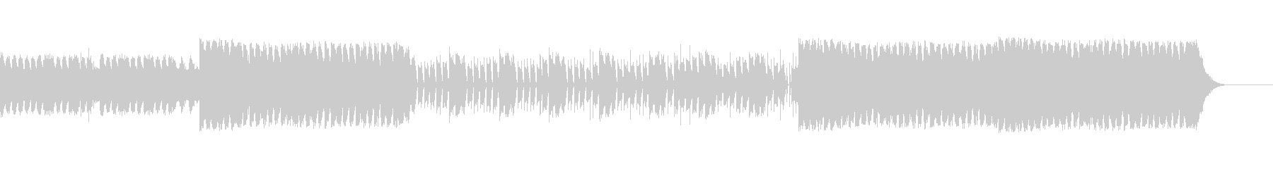 激しいスラップギターロックの未再生の波形
