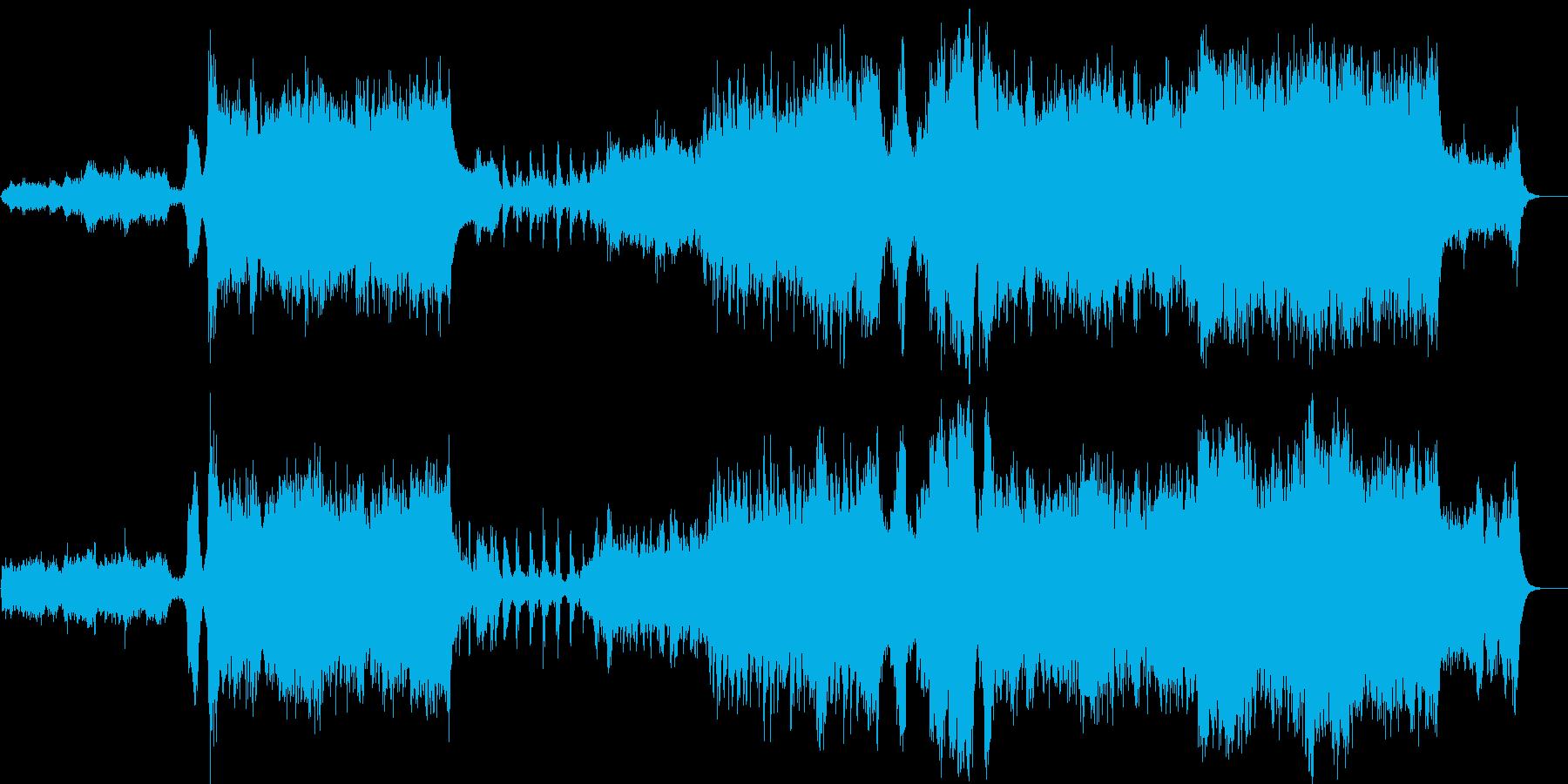 江戸、吉原をイメージ!和風オーケストラ曲の再生済みの波形