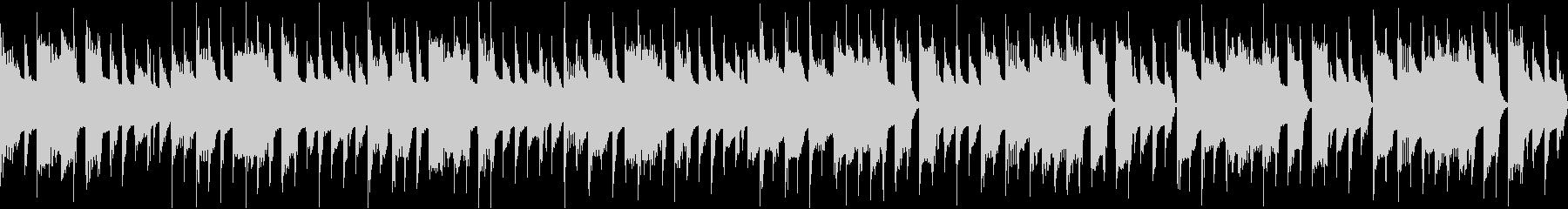 お知らせやCMなどに使えるシンプルな曲の未再生の波形