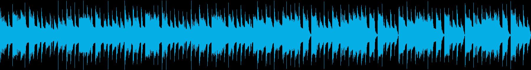 お知らせやCMなどに使えるシンプルな曲の再生済みの波形