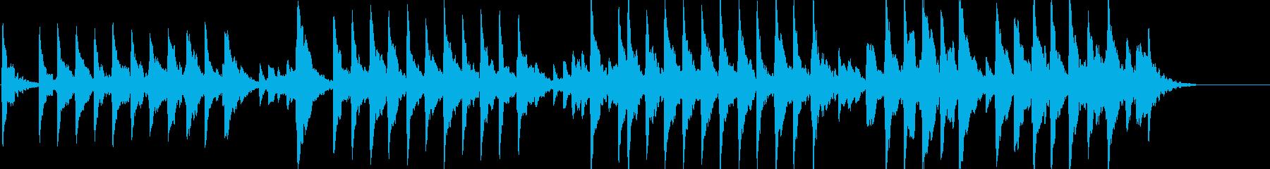 童謡「夕焼け小焼け」オルゴールbpm96の再生済みの波形