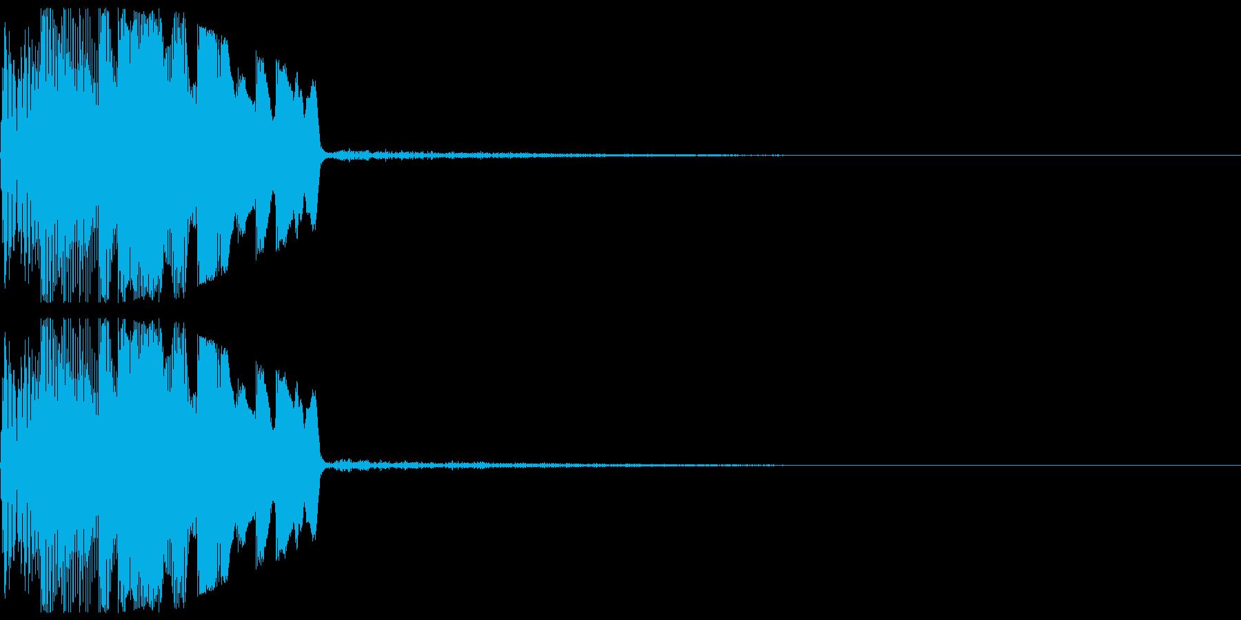 決定・タッチ・スタート音・ボタン・取得の再生済みの波形