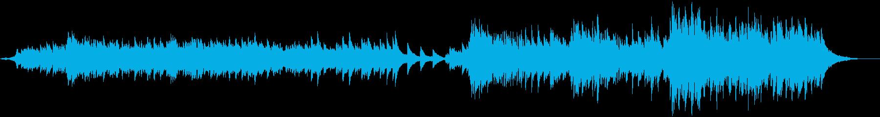 ピアノやストリングスの優しく温かな曲の再生済みの波形