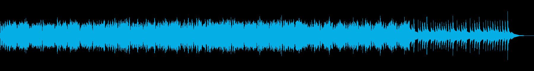 アコーディオンとオケのゆったり音楽の再生済みの波形