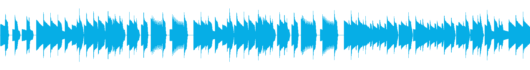 チップチューンのレトロゲーム調BGMの再生済みの波形