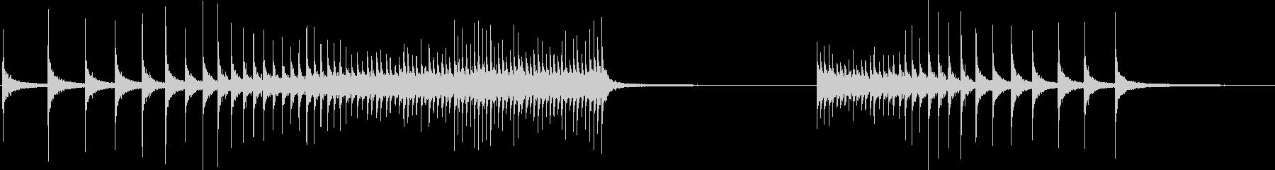 ドラム、ロートム、ロール、ロング;...の未再生の波形