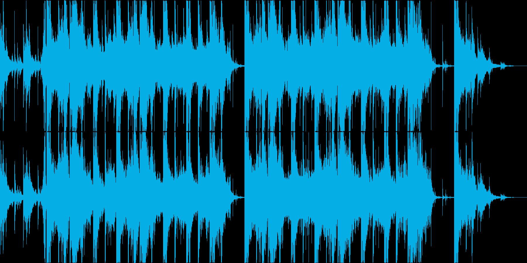 和風 薄暗い山の再生済みの波形