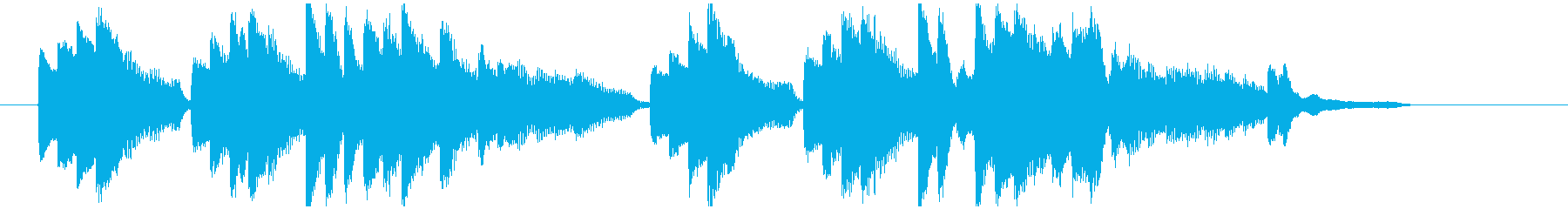 動画で使える悲しいピアノの短いBGMですの再生済みの波形