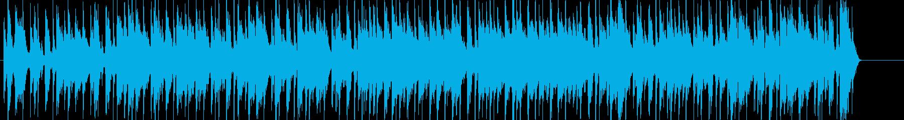 ワイルドで粗い感じのロックの再生済みの波形