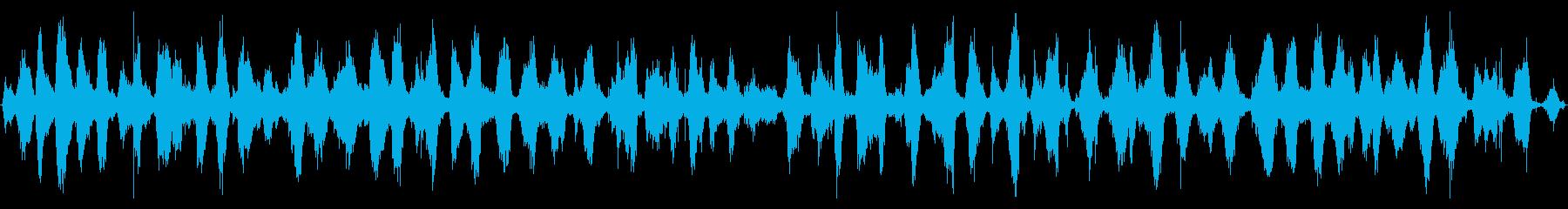 穏やかで静かな波の音になります。の再生済みの波形