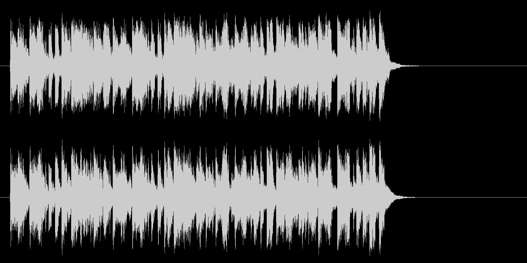 心を描くフュージョン(Aメロ)の未再生の波形