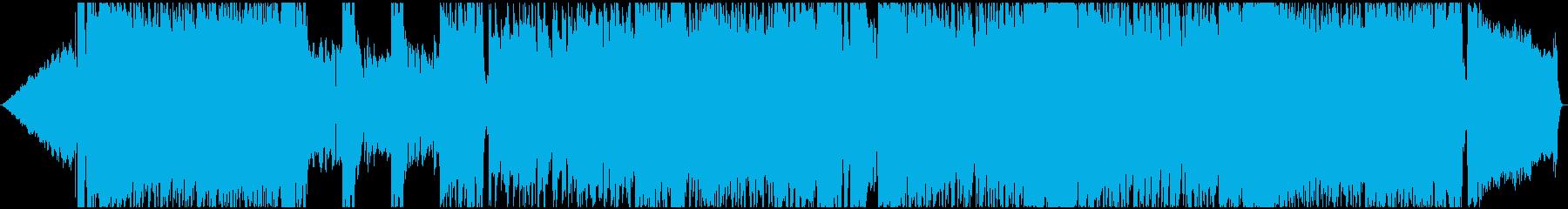 アニソン、V系風の男性Voロック曲の再生済みの波形