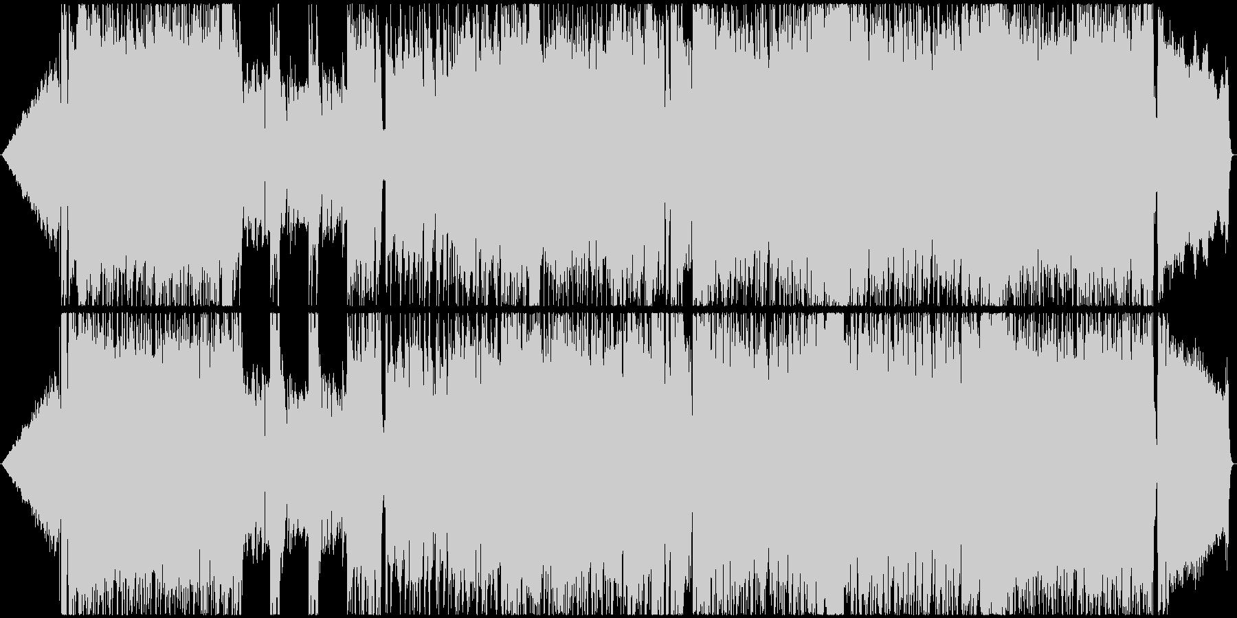 アニソン、V系風の男性Voロック曲の未再生の波形