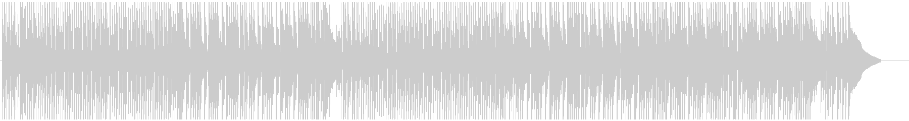 チャイニーズなメロディーのほのぼの曲の未再生の波形
