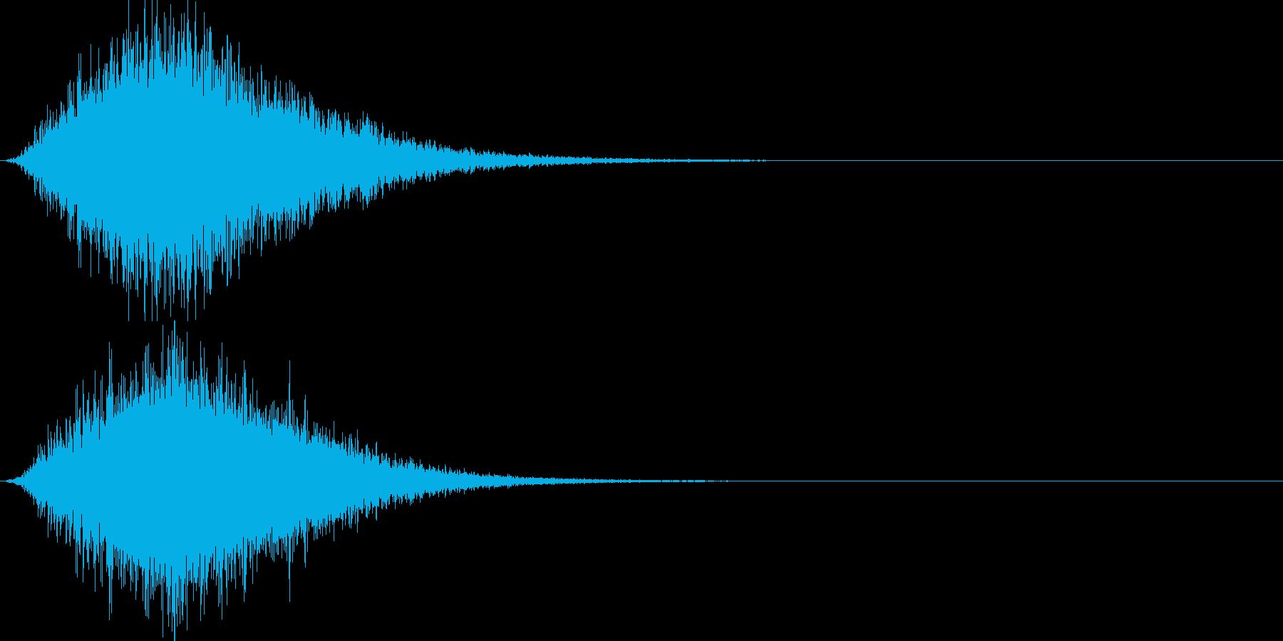 洞窟から聞こえる魔物の叫び声の再生済みの波形