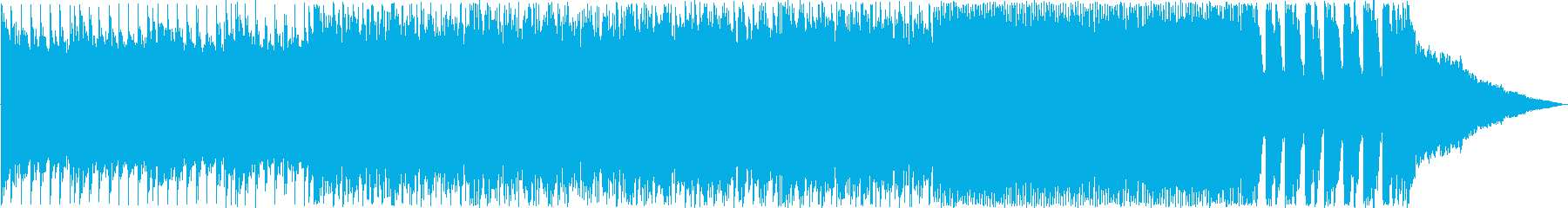 ファンタジーのオープニングの様なバンド曲の再生済みの波形
