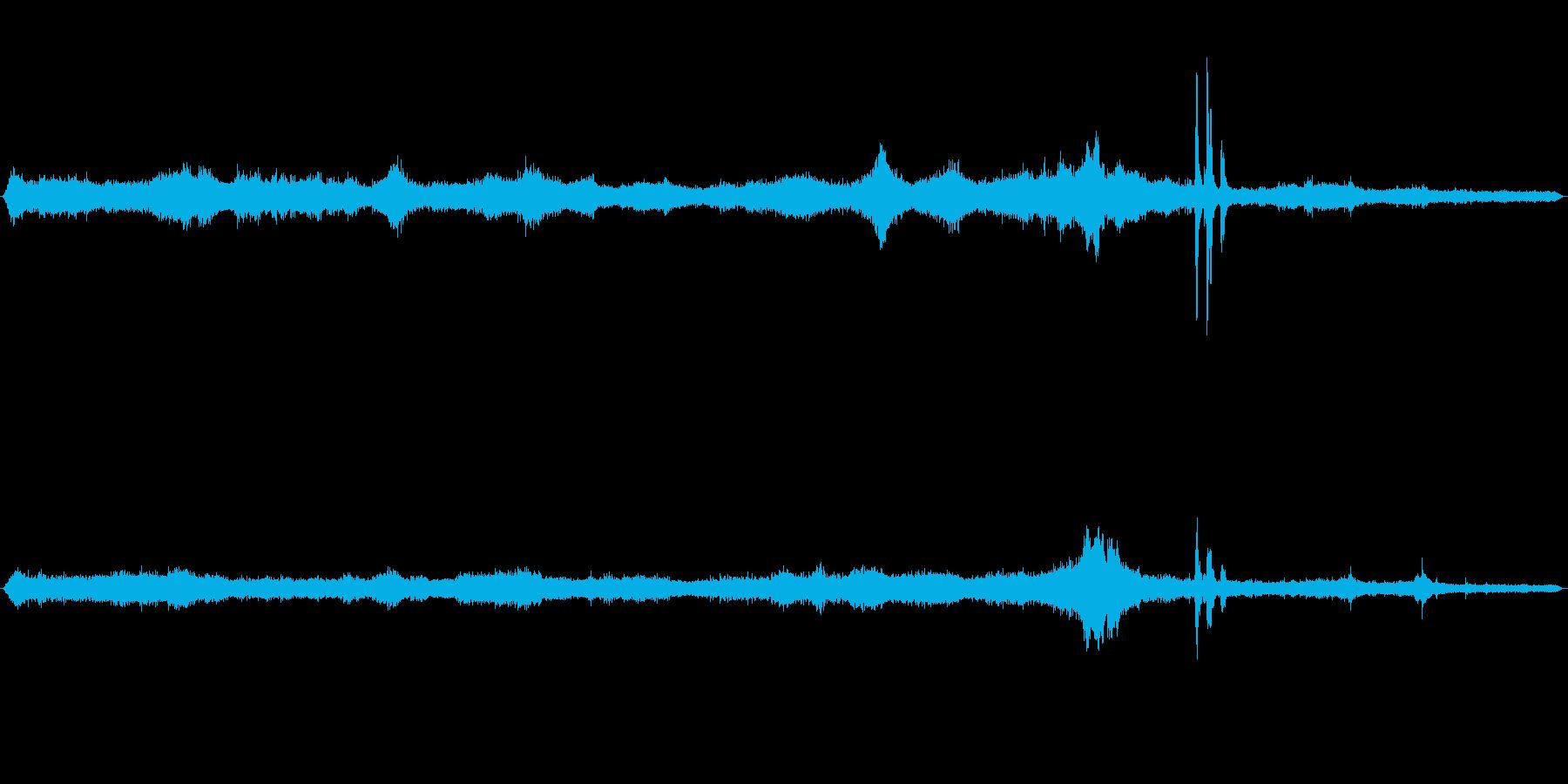 東京都渋谷区周辺の環七の音です。の再生済みの波形