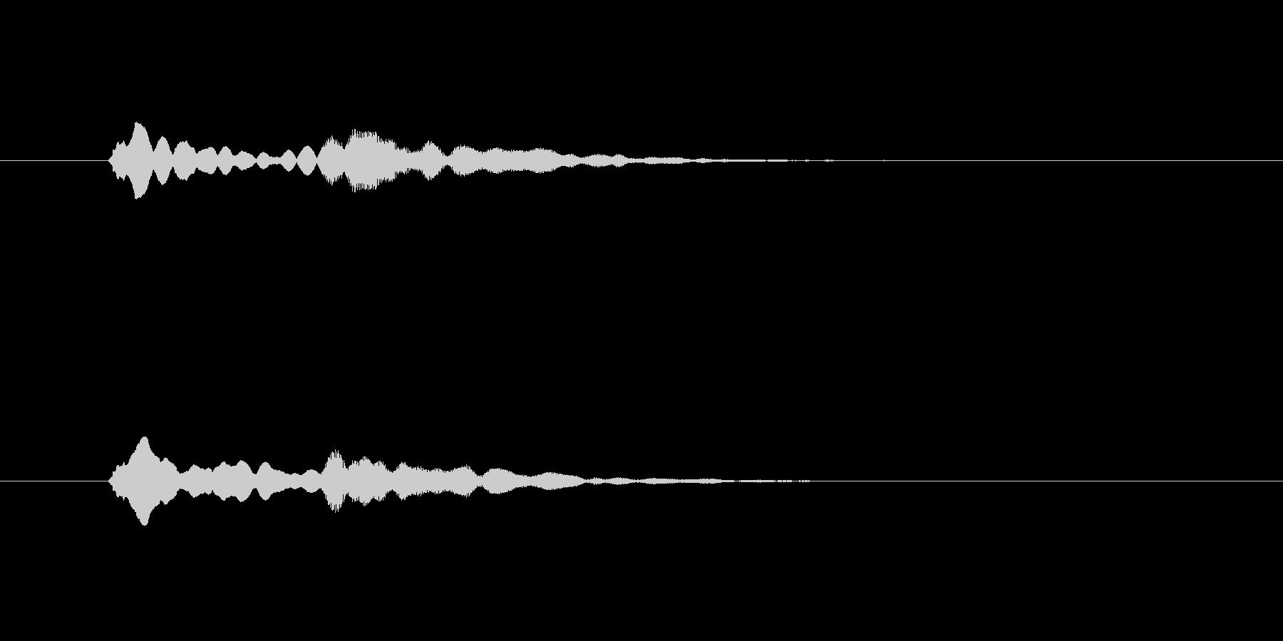 ピンポン(注目、お知らせ、終了)の未再生の波形