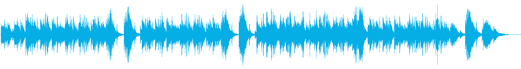 ゆったりと落ち着いたピアノ曲の再生済みの波形