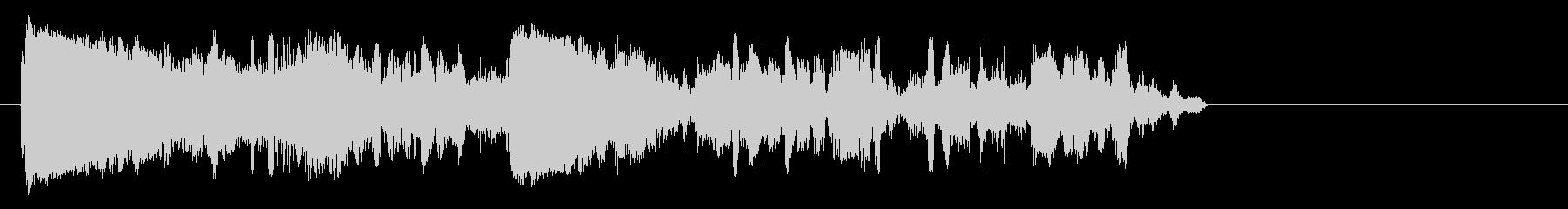 面白いラジオの静的またはデフレート効果。の未再生の波形
