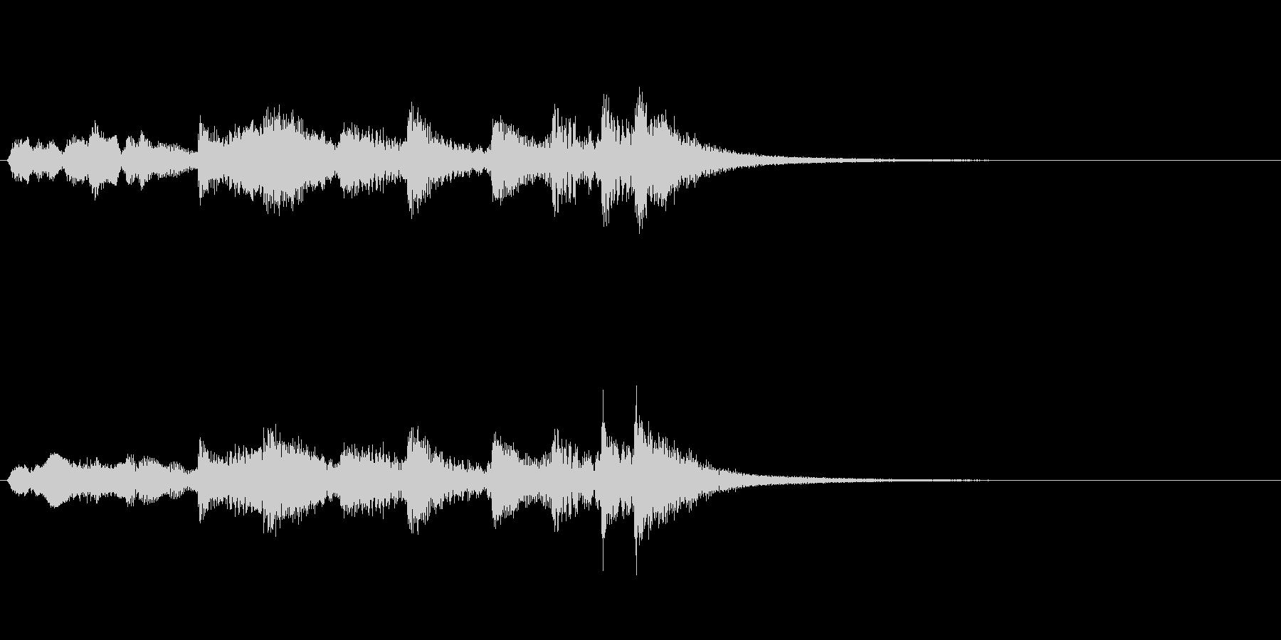 尺八、琴、太鼓と拍子木の音の未再生の波形