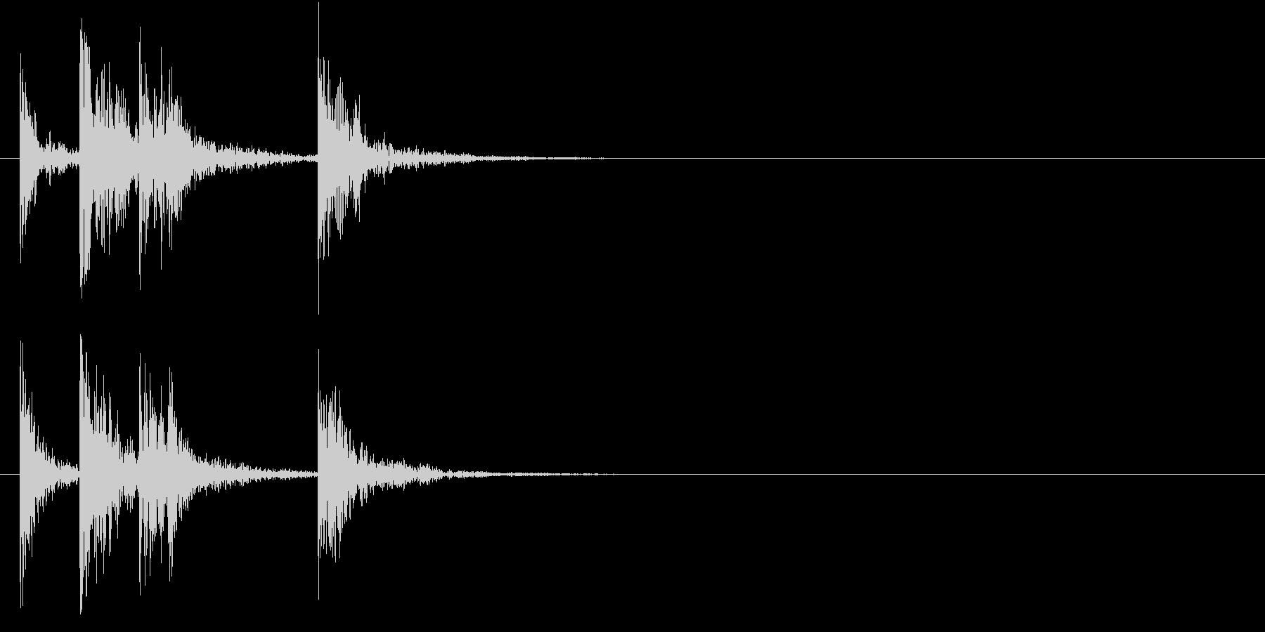 太鼓のSEの未再生の波形