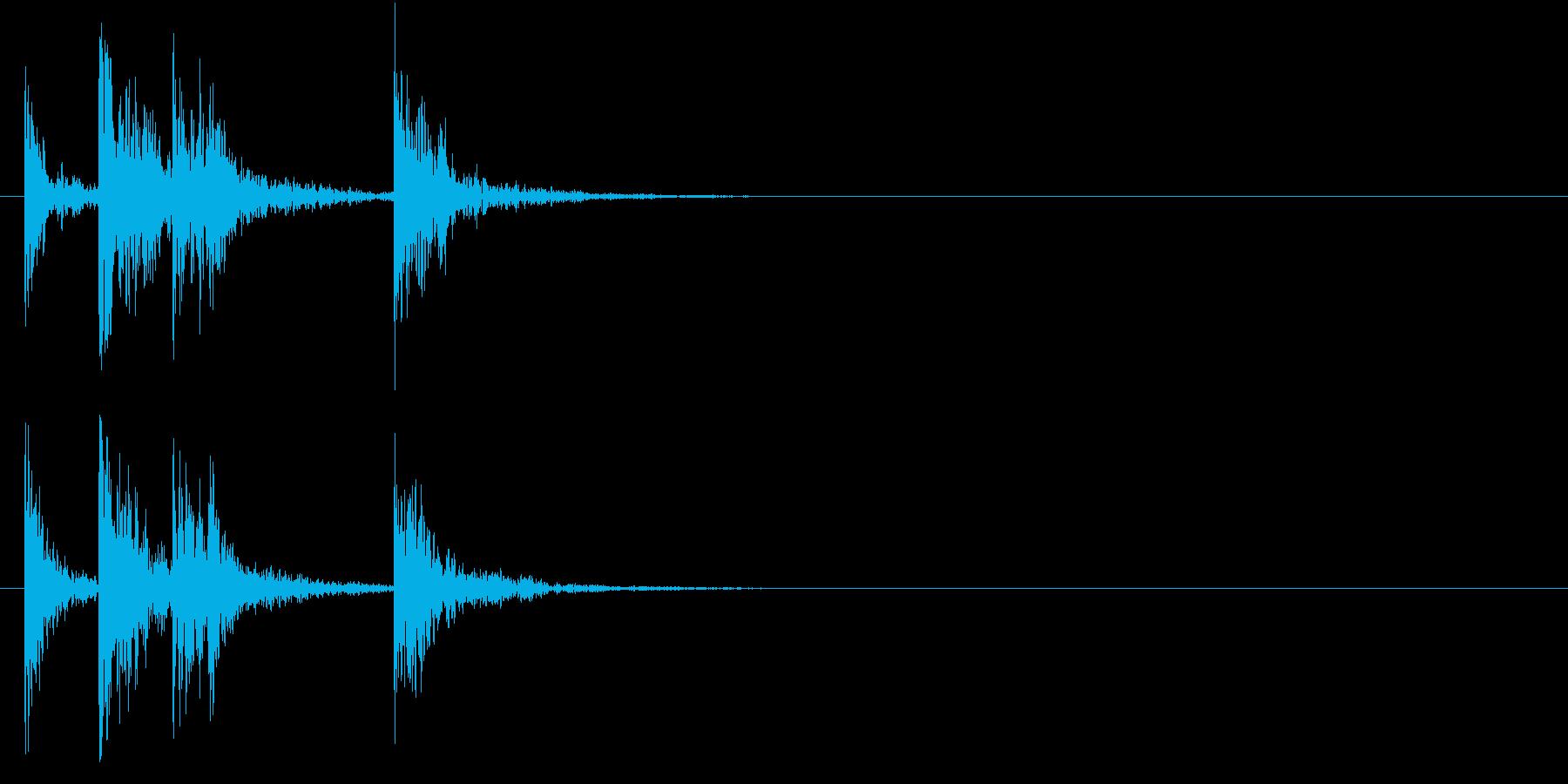 太鼓のSEの再生済みの波形