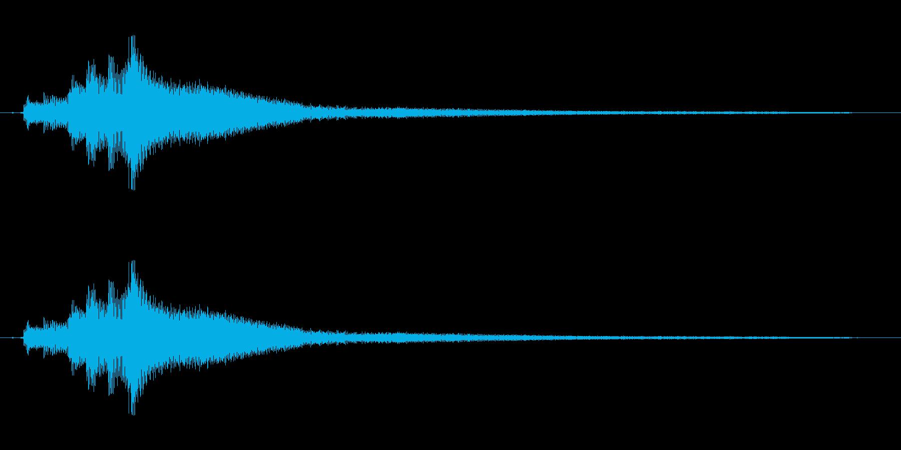 ピアノ。タララララランの再生済みの波形