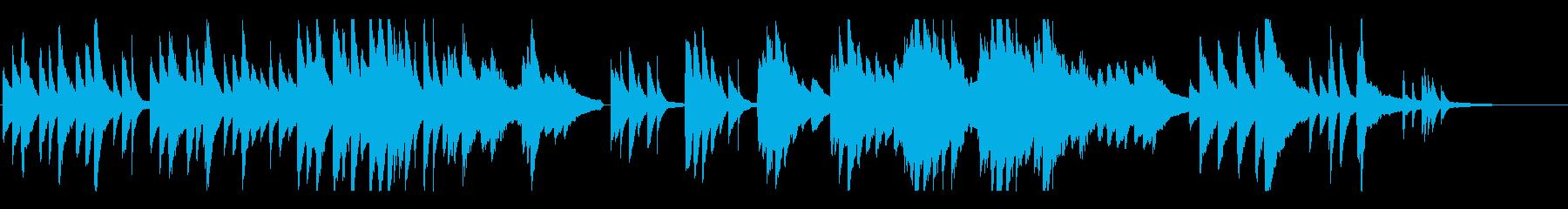 ピアノソロの切ないBGMの再生済みの波形