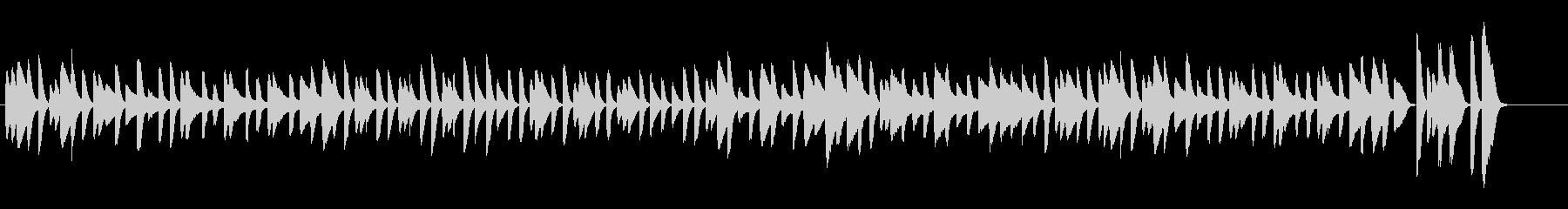 ねこふんじゃった シンプルなピアノソロの未再生の波形