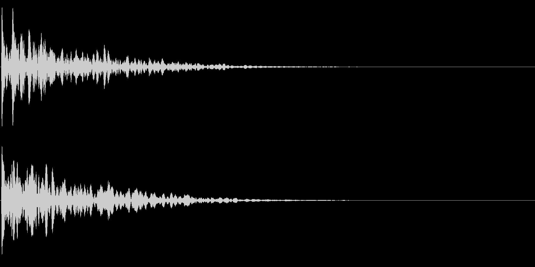 ゲームスタート、決定、ボタン音-056の未再生の波形