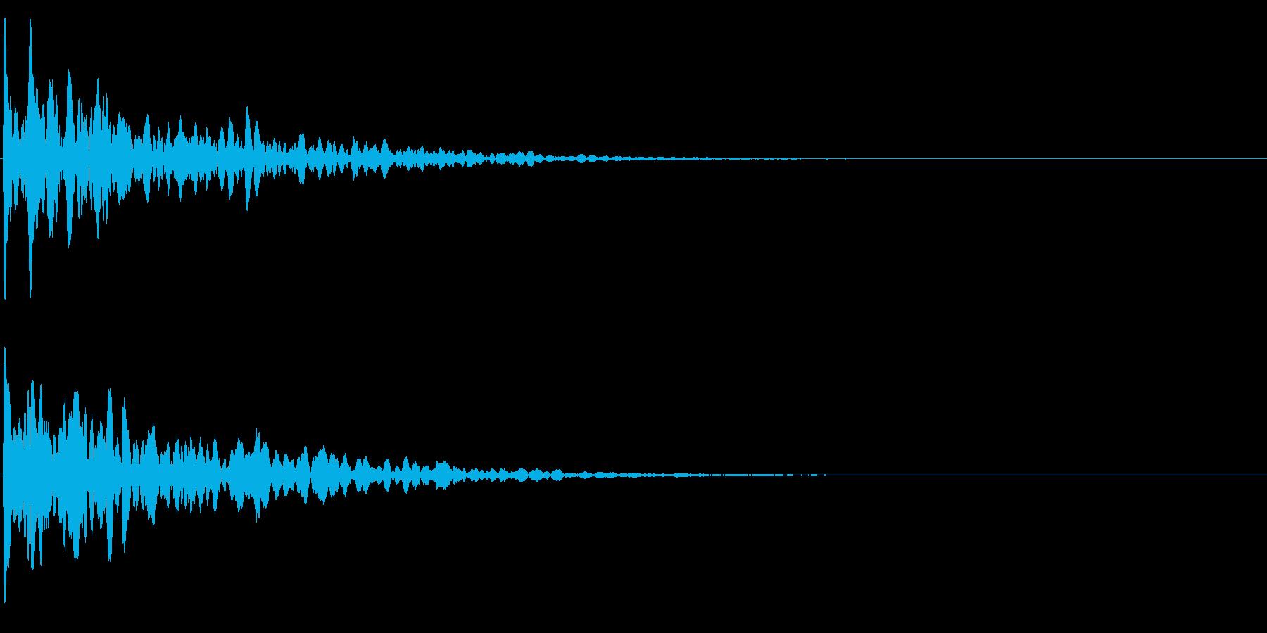 ゲームスタート、決定、ボタン音-056の再生済みの波形