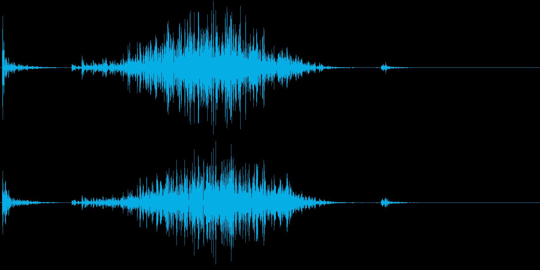 【生録音】ペンで書く音 机 6の再生済みの波形