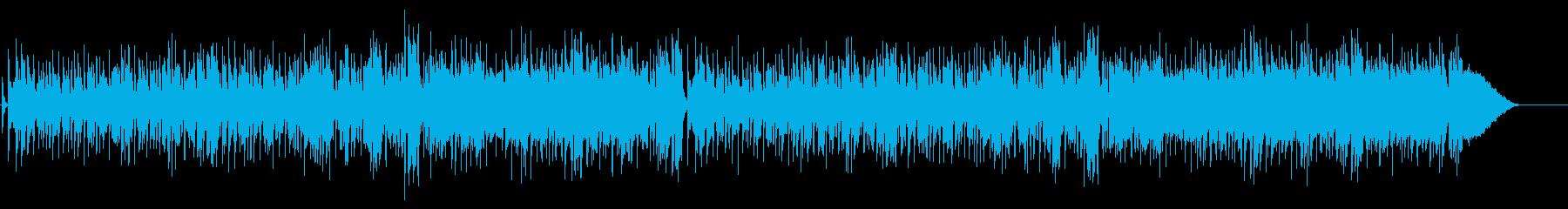 軽快で明るいテーマ・ソング風ポップスの再生済みの波形
