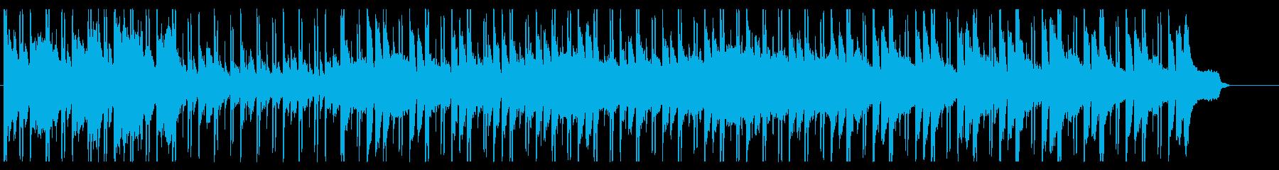幻想的でスタイリッシュなピアノ曲の再生済みの波形