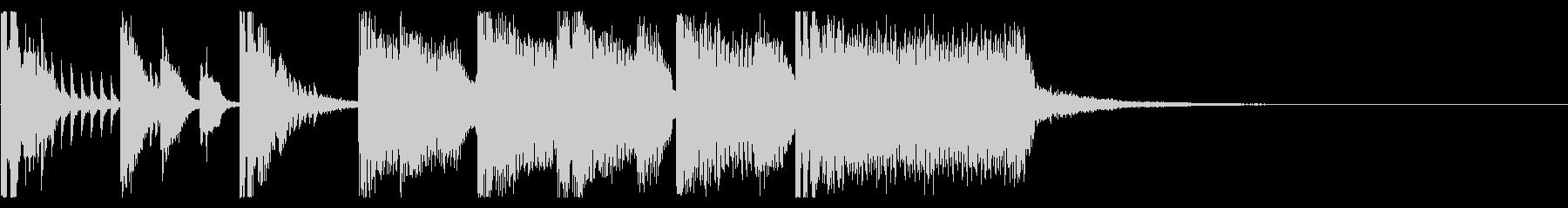 ポップなEDM系ジングルミュージック6の未再生の波形