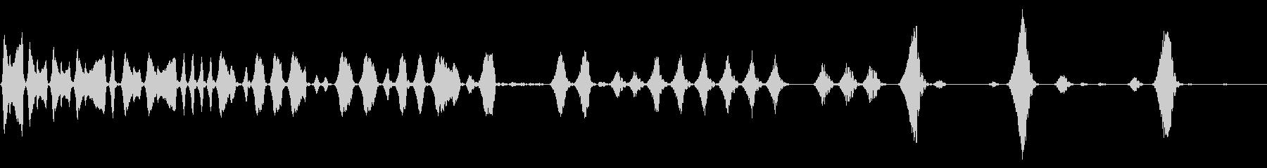 キュウウン(パワーが落ちる音)の未再生の波形