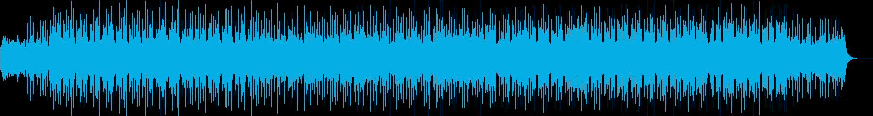 キレイで柔らかいメロディのピアノ+リズムの再生済みの波形
