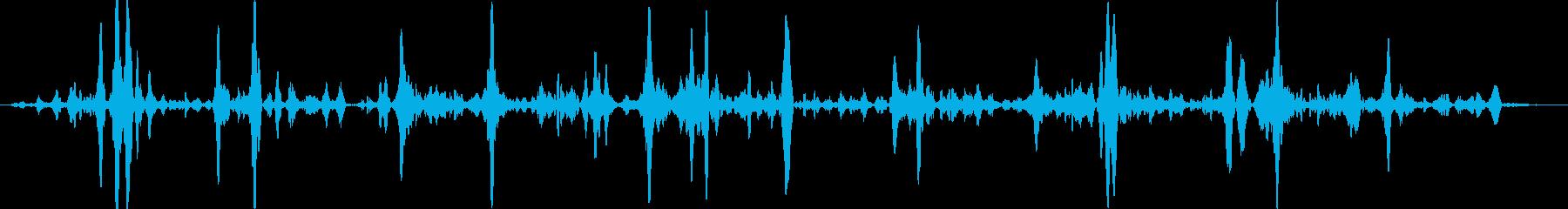 文字化けした音声ラジオビーコンを鳴...の再生済みの波形