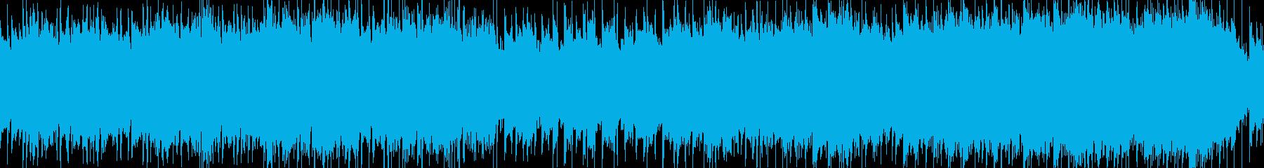 シューティングゲーム風ロック_ループ版の再生済みの波形
