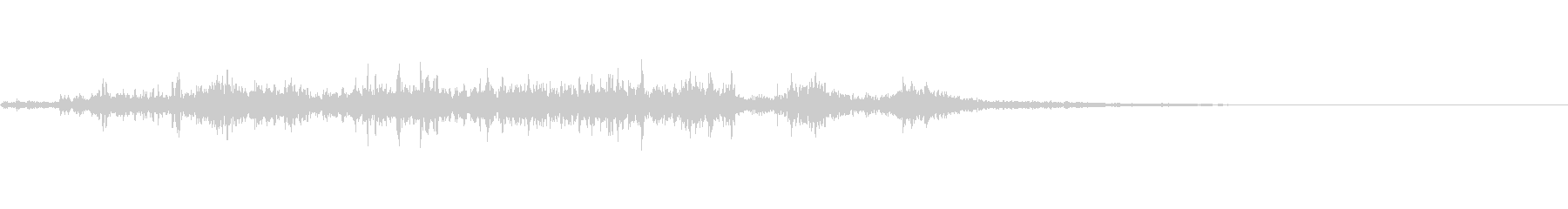 カミナリ(遠雷)-11の未再生の波形